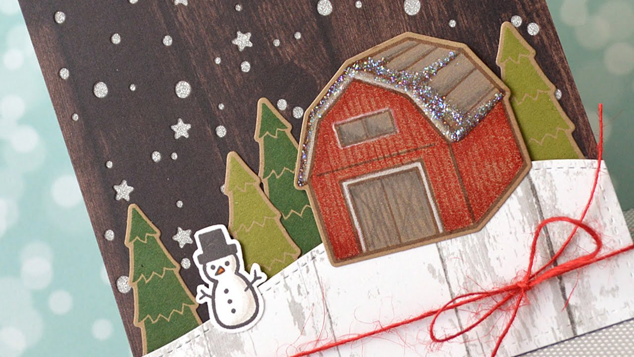 How to make a cute and rustic Christmas card - YouTube