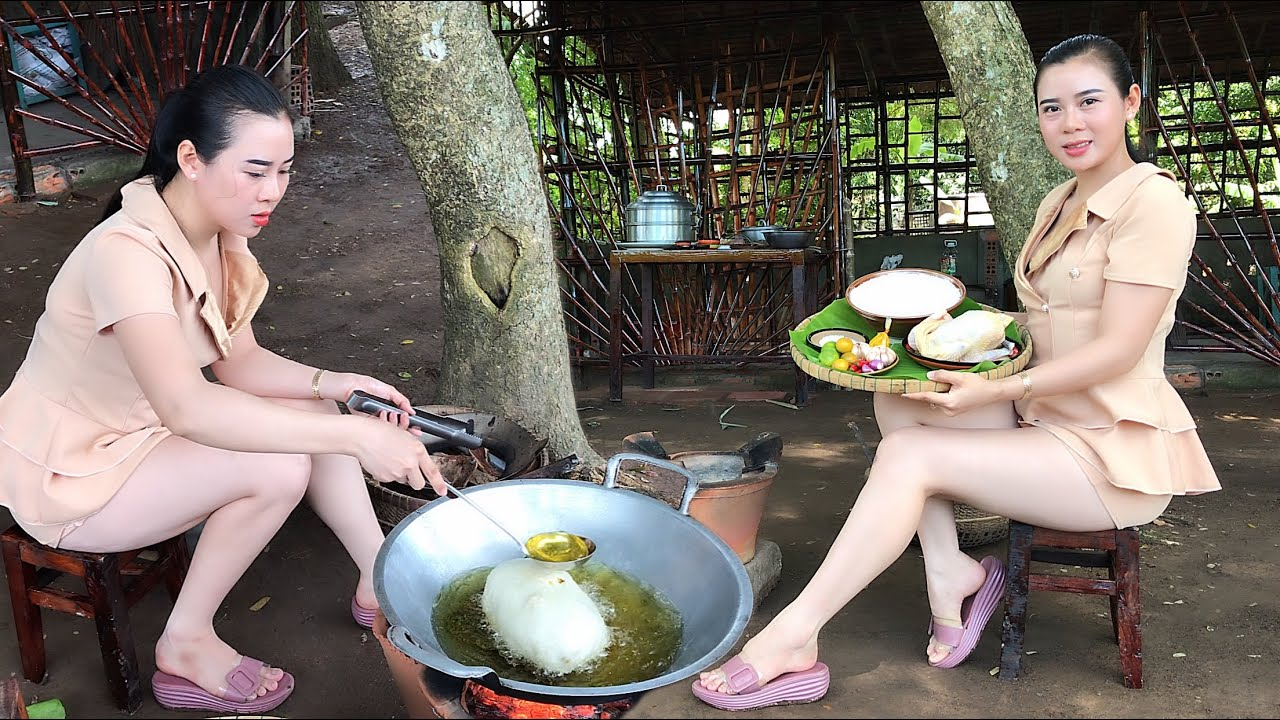 Cook Chicken Wrapped With Sticky Rice/Gà Bó Xôi/Beautiful Girl Cooking