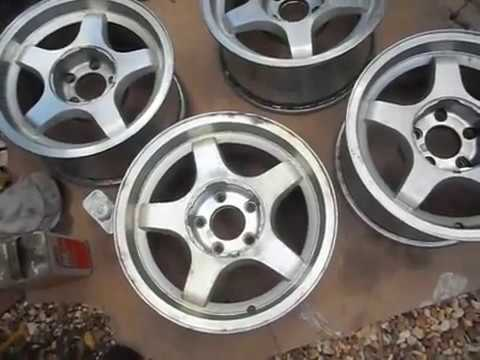 How to Stripping Clear Coat off Alloy wheels Aluminum Wheels