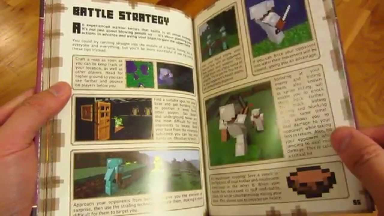 minecraft combat book page by page every page youtube rh youtube com Minecraft Handbooks Online Minecraft House