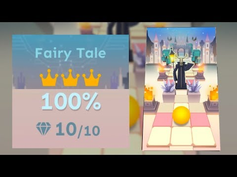 Rolling Sky Bonus 8 Fairy Tale 100% Clear - All Gems & Crowns | SHAvibe