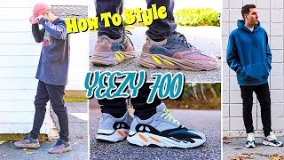 HOW TO STYLE - ADIDAS YEEZY 700 - MAUVE & WAVE RUNNER SNEAKER