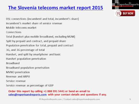 The Slovenia telecoms market report 2015