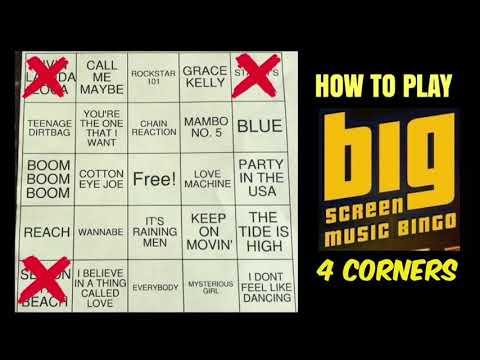 How to Play Big Screen Music Bingo