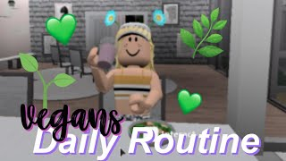 Vegan's Daily Routine! | Roblox Bloxburg Roleplay | Arabellaa