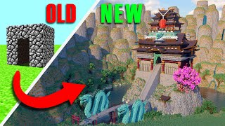 Upgrading A House Through EVERY Update In Minecraft Into An EPIC Japanese Castle!