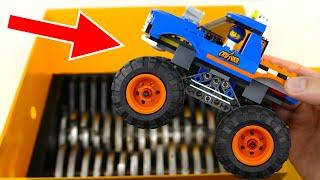 SHREDDING LEGO MONSTER TRUCK! AMAZING VIDEO!