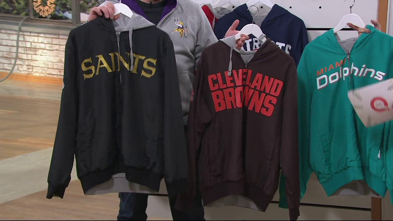 wholesale dealer 624f2 8af67 NFL Reversible Hoodie and Jacket in Team Colors on QVC