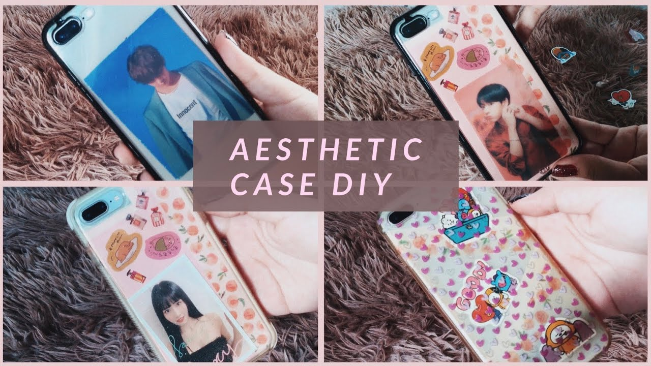 DIY AESTHETIC KPOP CASE // CAPINHA AESTHETIC - YouTube