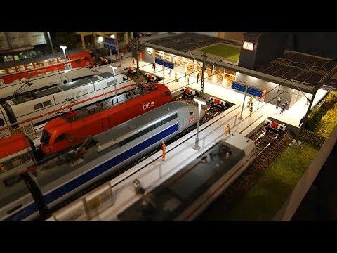 Moderne Märklin-H0-Modellbahn-Anlage mit Oberleitung, ICE, TGV, … in ehemaligem 13 qm-Kinderzimmer