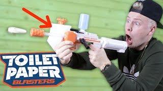 Ich teste den TOILETTEN PAPIER Blaster ! 😱 II RayFox