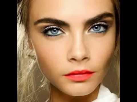 Maquillaje para ojos marrones y cabello castaño