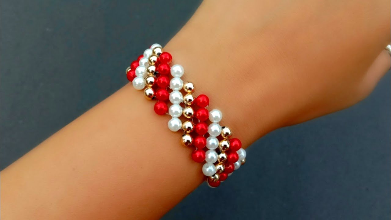 How to make//very simple designer beaded bracelet// useful & easy