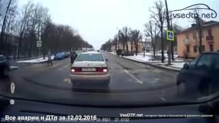 Дорожные войны - все аварии и ДТП за 12.02.2016