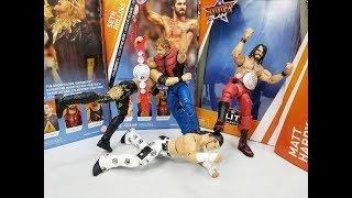 WWE SUMMERSLAM ELITE COMPLETE SET FIGURE REVIEW SETH ROLLINS MATT HARDY EDGE & DEAN AMBROSE