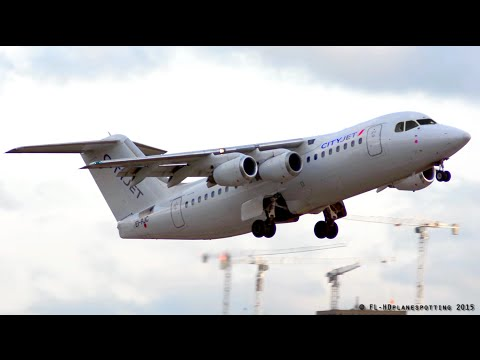 CityJet BAe-146 Avro RJ85 EI-RJC Landing & Takeoff At London-City [LCY/EGLC]