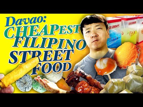 CHEAPEST FILIPINO STREET FOOD! Eating at ROXAS NIGHT MARKET in Davao Philippines
