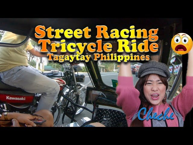 Crazy Filipino Tricycle Ride Philippines | Tricycle Street Race | Filipino Tricycle Ride