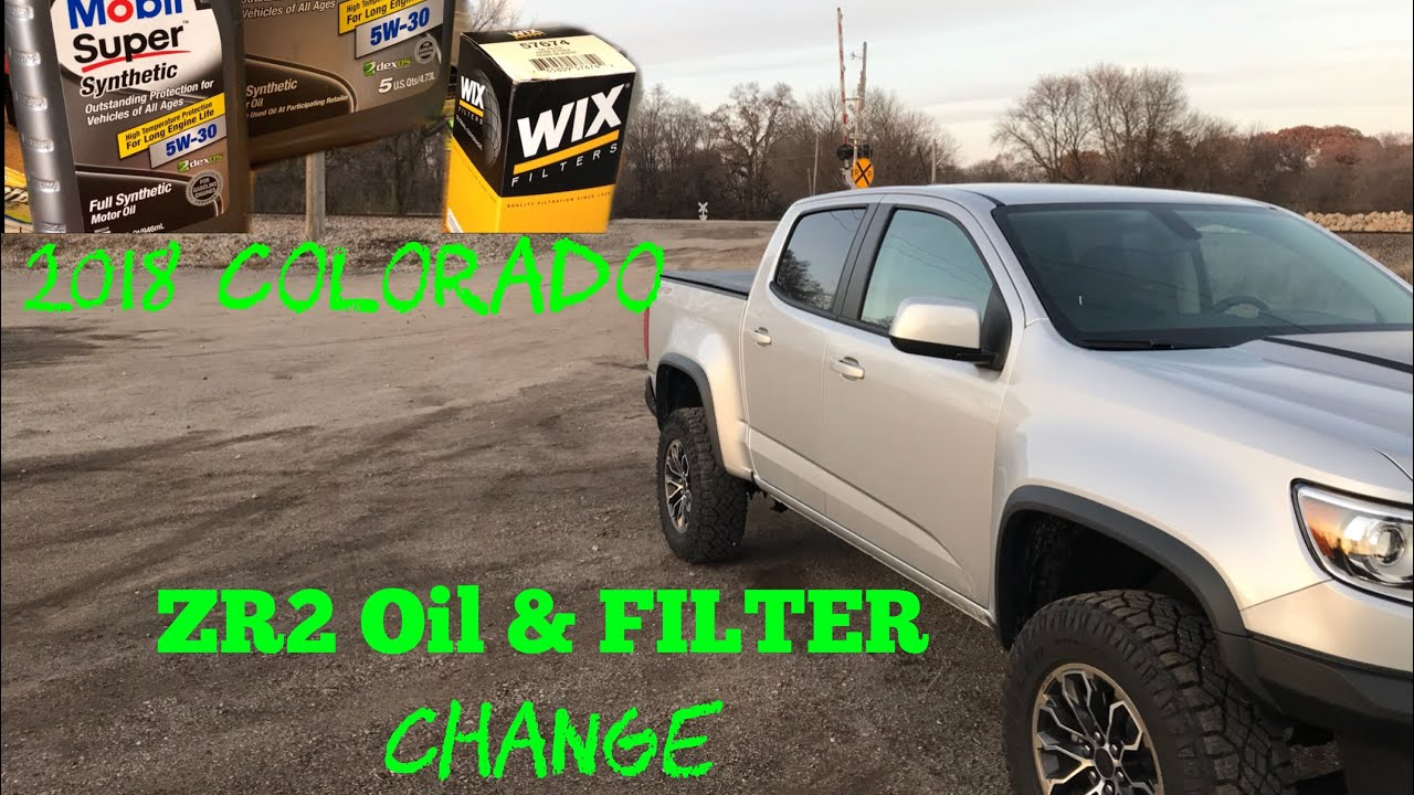 2018 19 Chevy Colorado Zr2 3 6 V6 Oil And Filter Change Oil