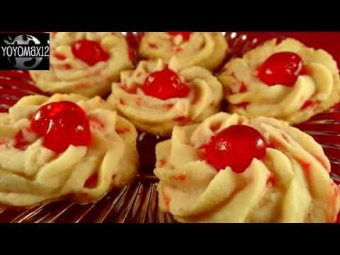 Cherry Whipped Shortbread Cookies With Yoyomax12