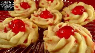 Cherry Whipped Shortbread Cookies- with yoyomax12