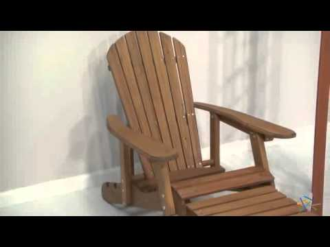big daddy reclining adirondack chair with pull out ottoman natural product review video