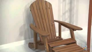 Big Daddy Reclining Adirondack Chair With Pull Out Ottoman - Natural - Product Review Video