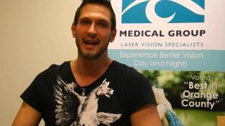 Irvine CA Lasik patient review one day after Lasik surgery - Orange County