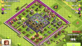 Clash of clans INSANE 866k+ raid only using goblins and wall breakers