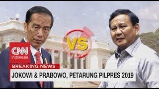 Jokowi & Prabowo Petarung Pilpres 2019, Maruf Amin & Sandi Berebut Wapres