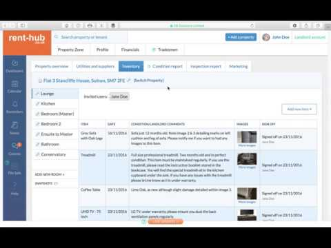 Using rent-hub's unique live updates bar