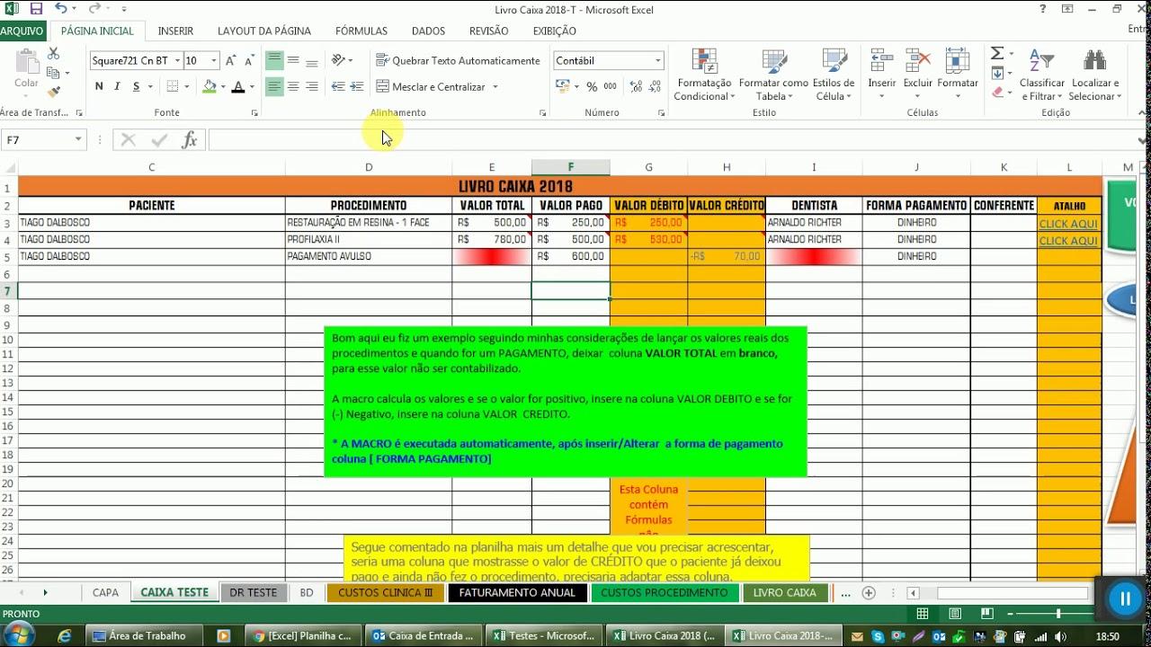 Excel] Planilha controle comissionamento e fluxo de caixa