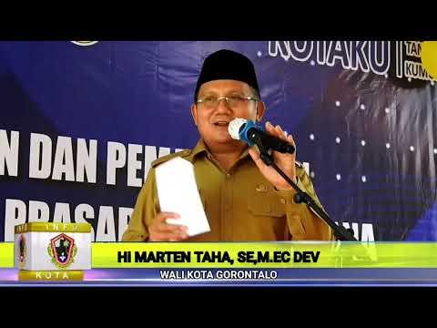 Wali Kota Gorontalo  Meresmikan Pemanfaatan Prasarana & Sarana Kegiatan Skala Kawasan