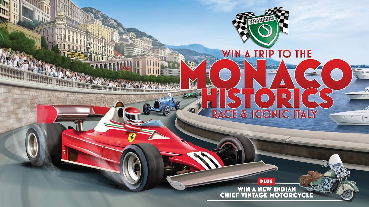 Win a Trip to the Monaco Historics Race. Plus, an Indian Motorcycle.