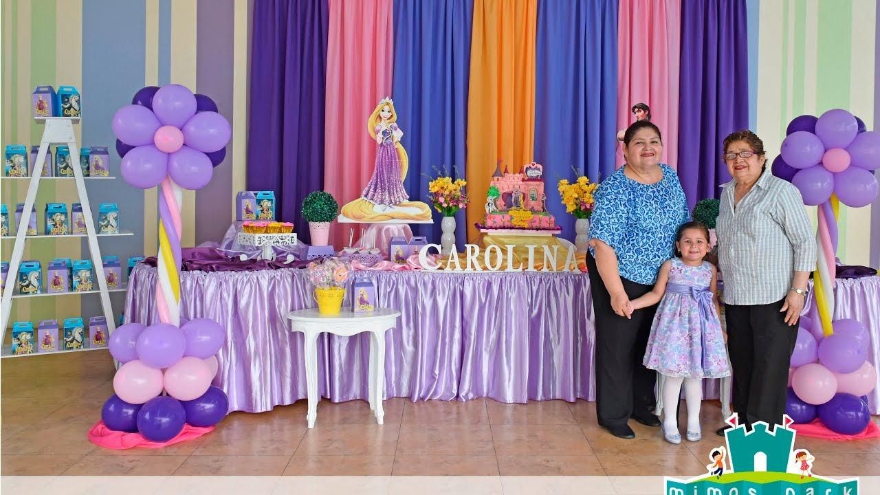 Fiesta rapunzel princesa disney youtube - Fiestas infantiles princesas disney ...