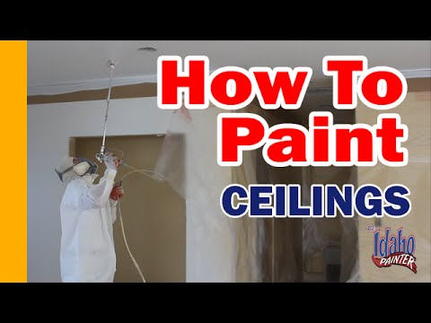 How To Paint Textured Ceilings Instructions Spraying Ceiling Diy Interior Painting