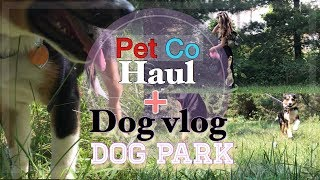 Petco haul+ my dog and i go to the pet store!+dog vlog+ dog park