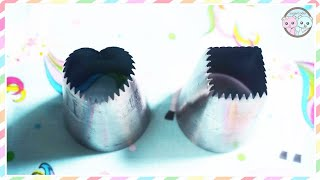 WIDE SQUARE & HEART PIPING TIPS Test & Review ❤️ Cake Cupcake Meringue Dessert Decorating Ideas