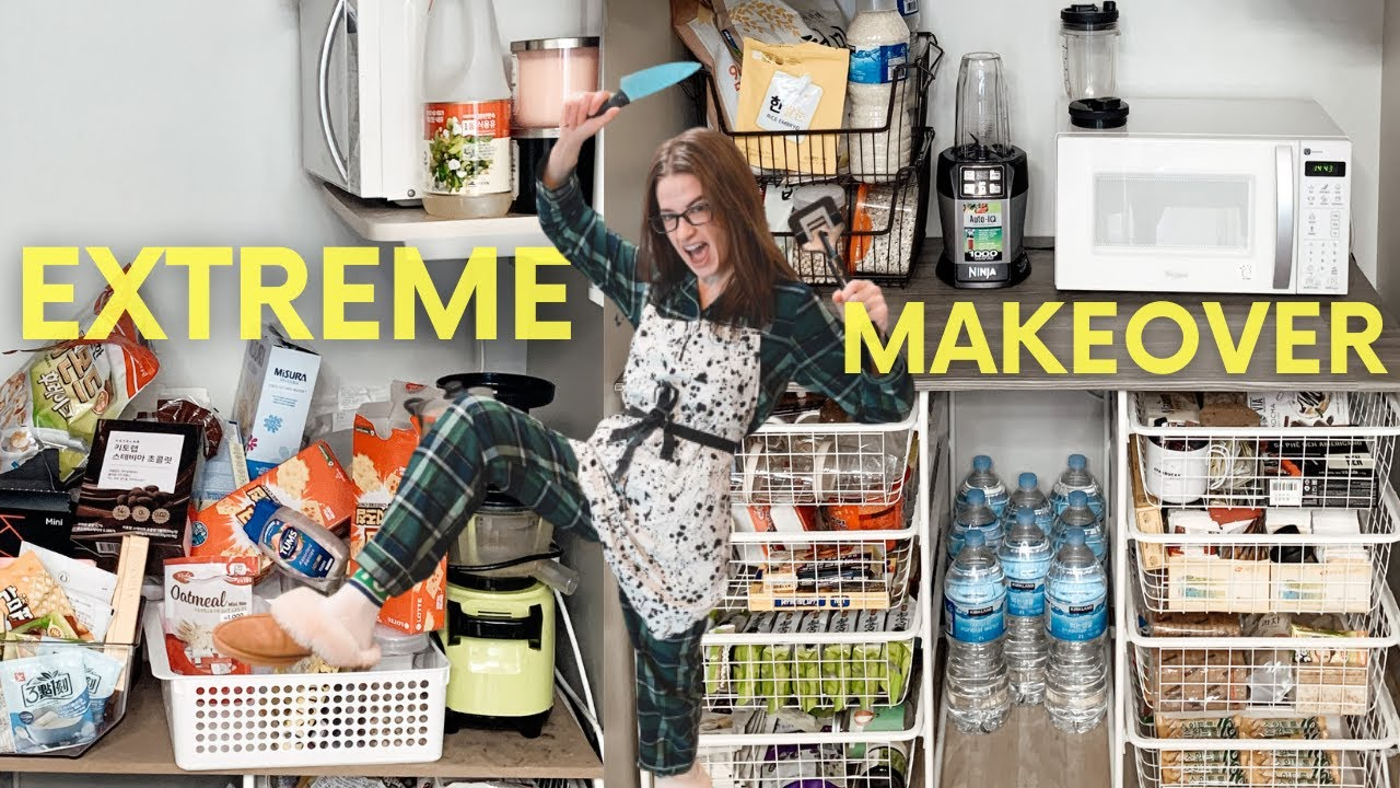 Small Pantry Makeover On A Budget | Pantry Makeover BEFORE and AFTER EXTREME Clean With me 2020