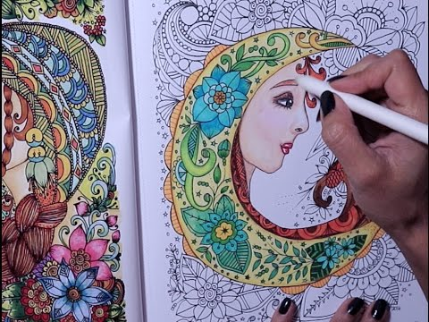 coloring in my FLOWER GIRLS coloring book - YouTube