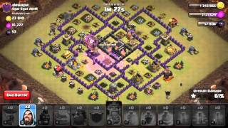 Shattered LaLoon TH9 - (NO AQ) Live Attack #1 - Clash of clans