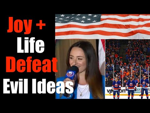 Magical National Anthem at NY Islanders Game Offers Hope For America - Defeating Hate |