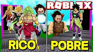 RICO VS POBRE !! BROLY NO ROBLOX FABRICA - [BROLY] Dragon Ball Ultimate Tycoon