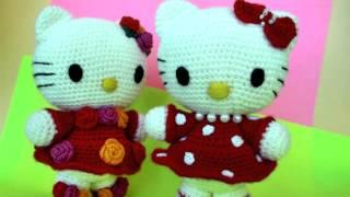Амигуруми: схема Hello Kitty. Игрушки вязаные крючком!