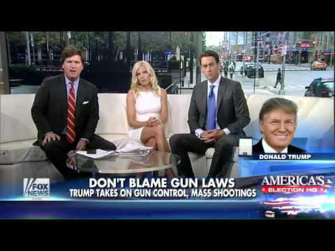 Trump talks gun control, foreign policy and 'SNL'