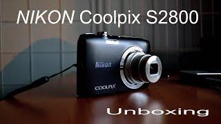COOLPIX S2800 (NIKON) UNBOXING