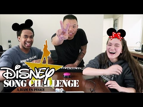 Disney Song Challenge - Hamilton vs Peggy | AJ Rafael