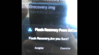 Huawei Y210-Cambio a CWM Recovery V5.0.2.8