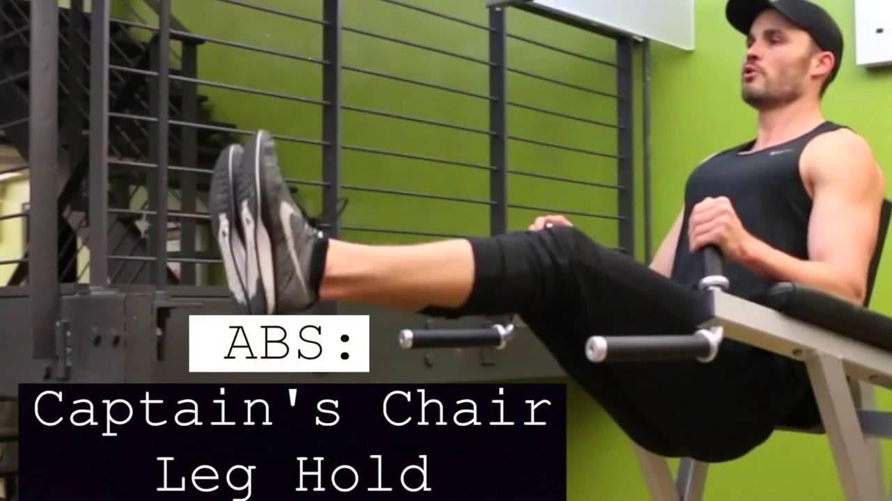 Captains chair leg raise - Abs Captain S Chair Leg Raises
