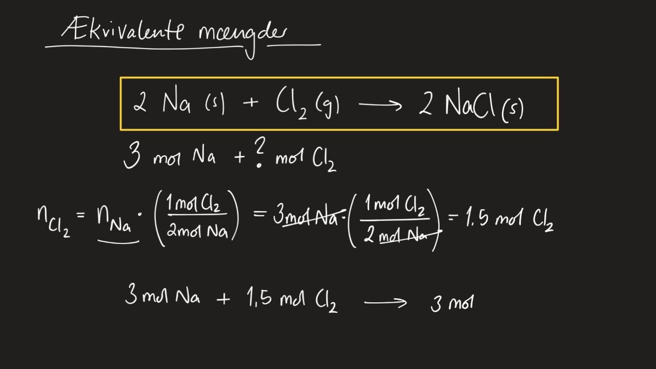 Forklaring af ækvivalente mængder samt den begrænsende faktor | Forklaret af en gymnasielærer